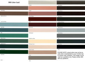 Rain Gutter Color Selection