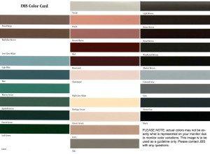 Rain Gutter Color Selection