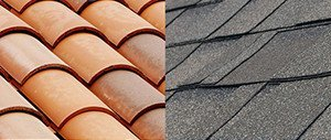Clay vs shingle tile
