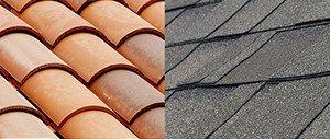 Clay vs shingle tile