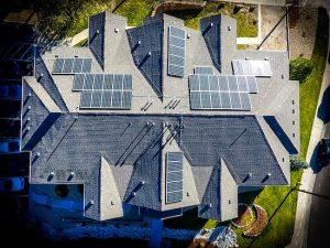 solar panels configured on phoenix roof